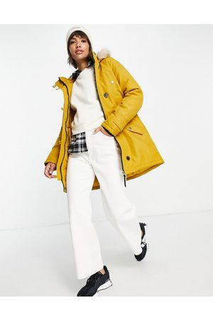 VERO MODA Mulher Parkas - Parka with faux fur lined hood In yellow-Orange