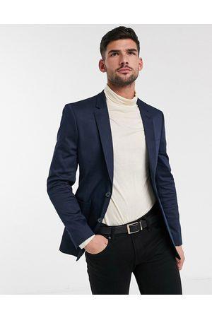 ASOS Homem Blazers - Wedding skinny blazer in navy cotton