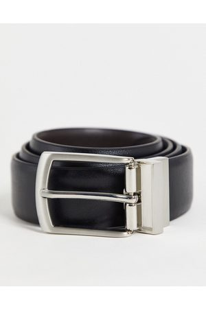 French Connection Reversible belt in black & brown