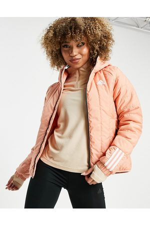 adidas Mulher Casacos Outdoor - Adidas Outdoor Itavic hooded light puffer jacket in pink