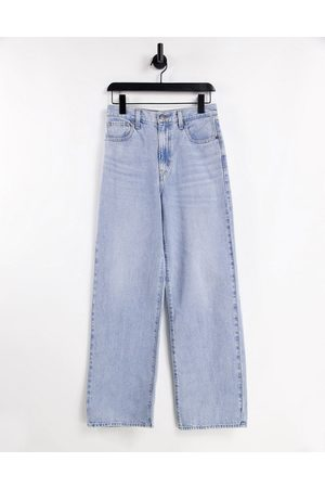 Levi's Levi's high waisted straight leg jeans in mid wash-Blue