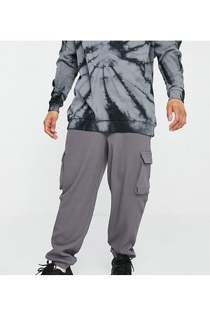 COLLUSION Homem Joggers - Oversized utility joggers in charcoal waffle fabric co-ord-Grey