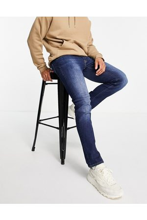 JACK & JONES Homem Slim - Intelligence Glenn slim fit jeans in midwash blue