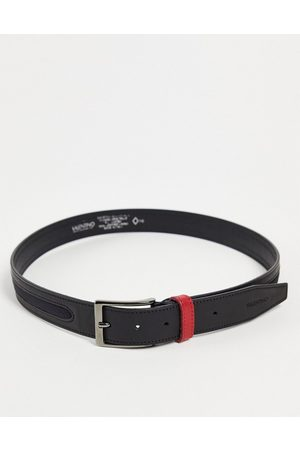 VALENTINO Fir belt in black with red loop