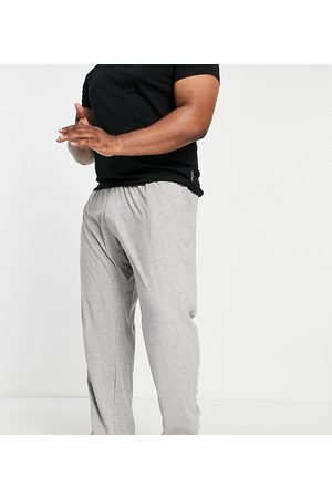French Connection Plus FCUK jersey trousers in light grey melange and white
