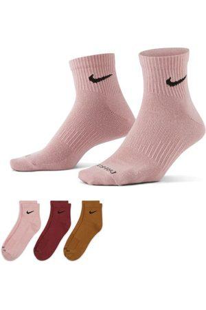 Nike Roupa Interior - Meias de treino pelo tornozelo Everyday Plus Lightweight (3 pares) - Multicolor