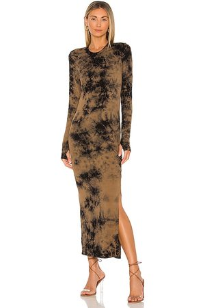 Electric & Rose Robin Maxi Dress in - Taupe. Size L (also in M, S, XS).