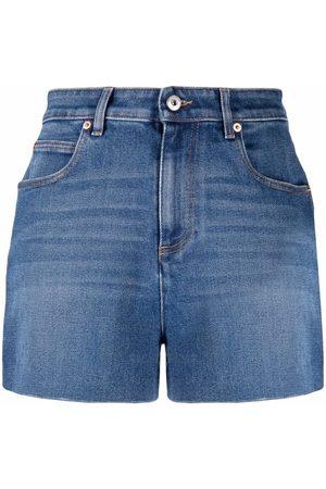VALENTINO Mulher Calções - High-waisted denim shorts