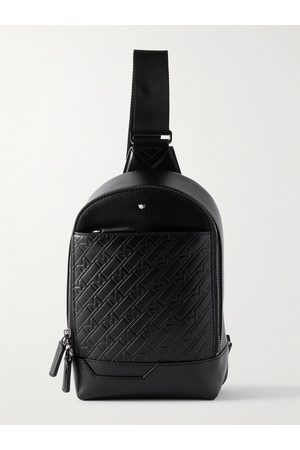 Montblanc Homem Mochilas - M_Gram 4810 Logo-Embossed Leather Sling Backpack