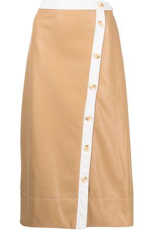 Staud Button-up midi skirt