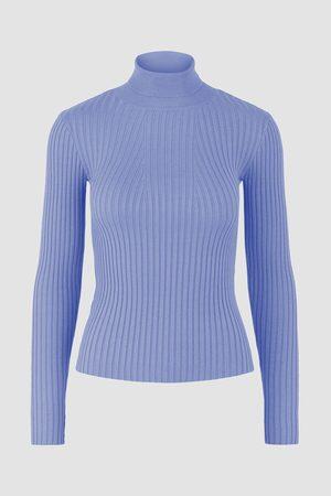 Pieces Mulher Camisolas - Camisola de malha gola dobrada