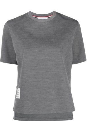 Thom Browne Logo patch crew neck T-shirt