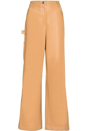Staud DOMINO HW WIDE LEG VGN LTHER TRS C