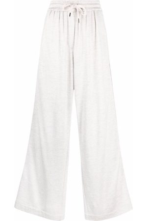Brunello Cucinelli Wide-leg drawstring trousers