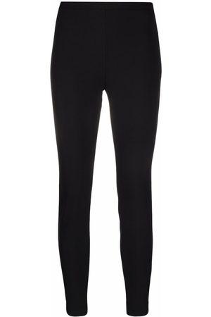 Pinko Mulher Calças Justas - Slim side-zip fastening trousers