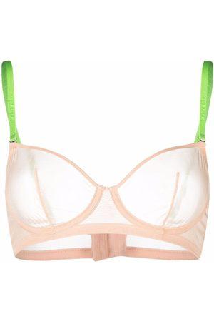 MAISON CLOSE Mesh underwired bra