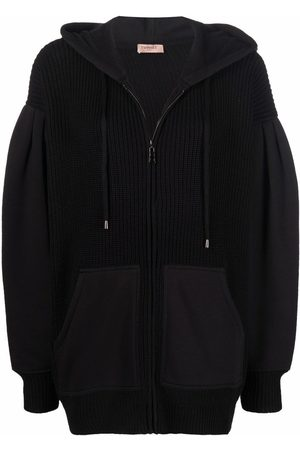 Twin-Set Mulher Camisolas com capuz - Panelled embroidered hoodie