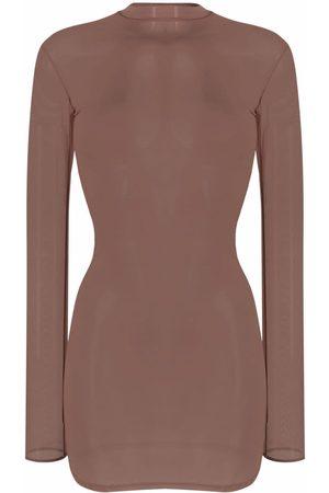 MAISON CLOSE Long-sleeved semi-sheer camisole