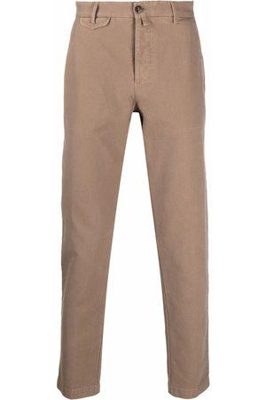 BRIGLIA Cropped chino trousers