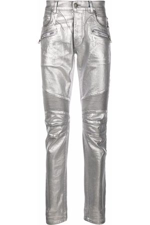 Balmain Homem Slim - Logo embossed monogram slim-fit jeans
