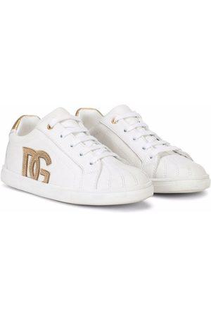 Dolce & Gabbana DG logo leather sneakers