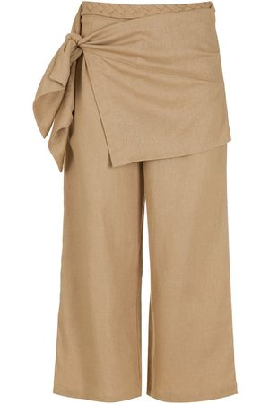 LUIZA BOTTO Side-tie wide leg cropped trousers