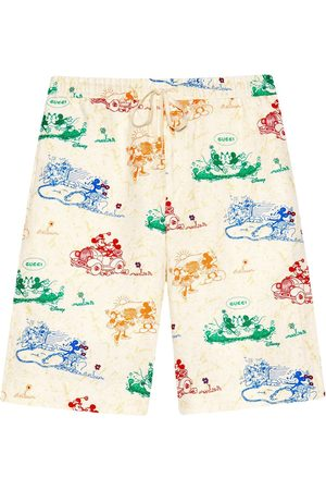 Gucci Homem Bermudas - X Disney Mickey Mouse and Minnie print shorts