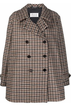 Maison Margiela Mulher Blazers - Plaid-check double-breasted coat