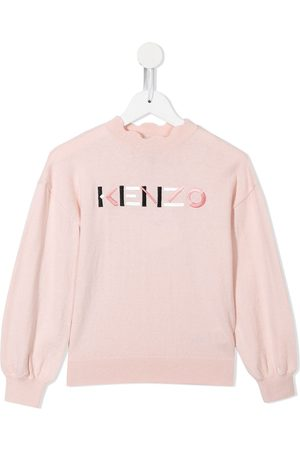 Kenzo Menina Camisolas - Logo-embroidered knitted jumper