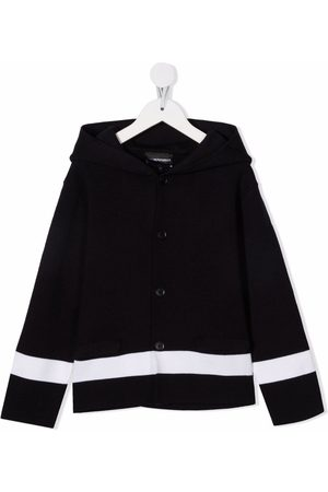 Emporio Armani Menino Cardigans - Hooded stripe cardigan