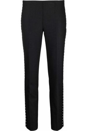 P.a.r.o.s.h. Mulher Calças Justas - Studded slim fit trousers