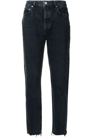 AGOLDE Mid-rise tapered-leg slim jeans