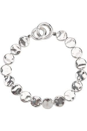 Jil Sander Hammered disc bracelet