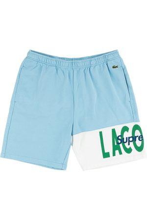 Supreme X Lacoste logo panel sweat shorts