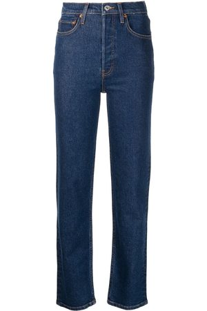 RE/DONE Mulher Skinny - Stove Pipe high-rise straight jeans