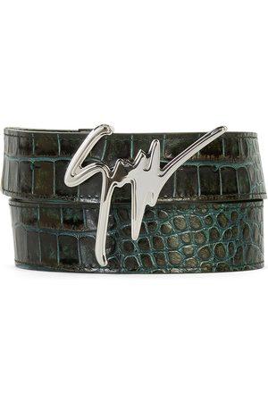 Giuseppe Zanotti Homem Cintos - Signature buckle belt