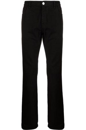 RAF SIMONS Homem Retos - Logo-patch straight-leg jeans
