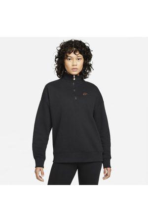 Nike Mulher Camisolas com capuz - Pullover de lã cardada com fecho a 1/4 Sportswear para mulher