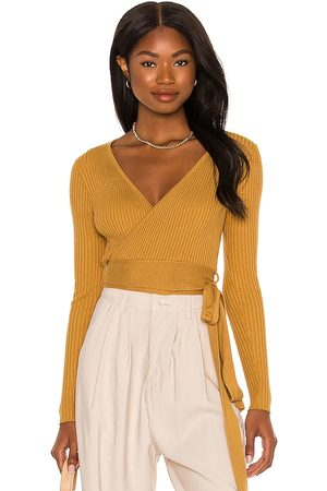 Minkpink Phrada Wrap Top in - Mustard. Size L (also in S, XS, M).