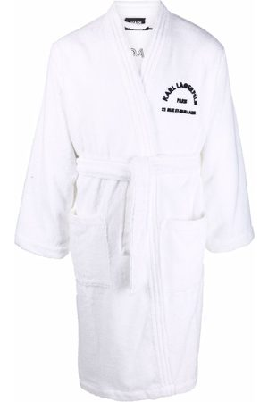 Karl Lagerfeld Logo-print towelling robe