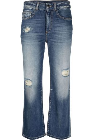 Pinko Ripped detailing cropped jeans