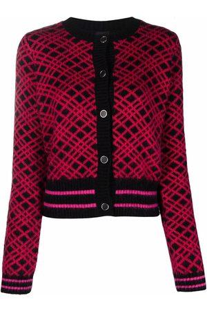 Pinko Round neck plaid cardigan
