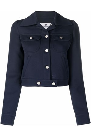 Courrèges Notched-collar cropped jacket