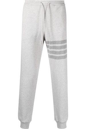 Thom Browne Homem Calças - 4-Bar stripe cotton track pants