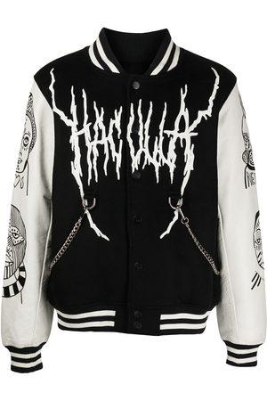 HACULLA Homem Casacos de Pele - Leather-sleeve varsity jacket