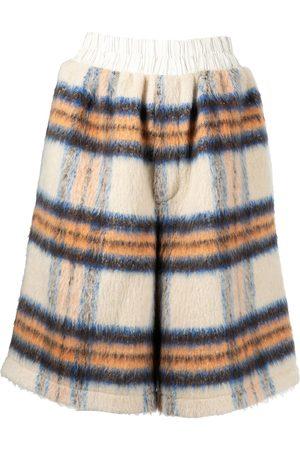Natasha Zinko Bold check wool-blend shorts