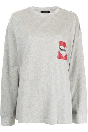 Ground Zero Logo-print long-sleeved T-shirt