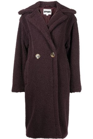 Apparis Mulher Casacos de Inverno - Double-breasted faux-shearling coat