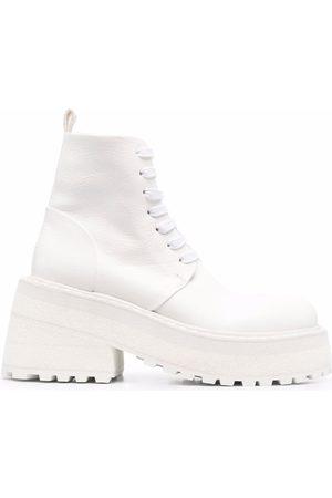 MARSÈLL Lace-up platform-sole leather boots