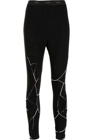 YOHJI YAMAMOTO Logo-waist cut-out leggings